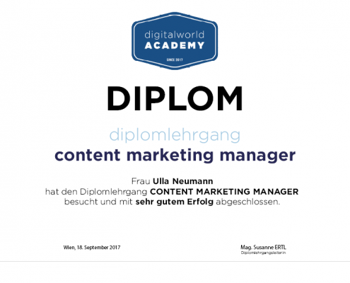 Diplomausbildung Content Marketing Manager